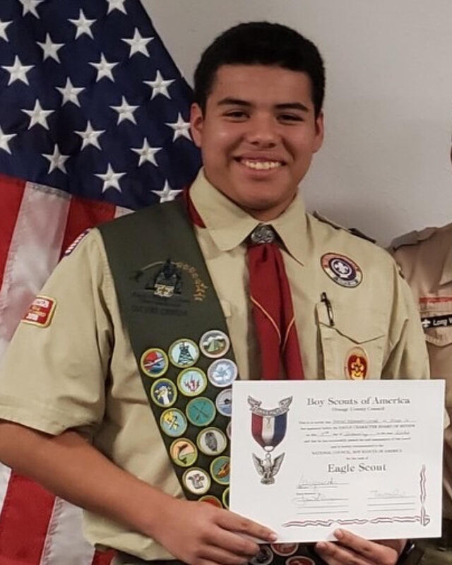 David C. Eagle Scout from first class of Golden West District